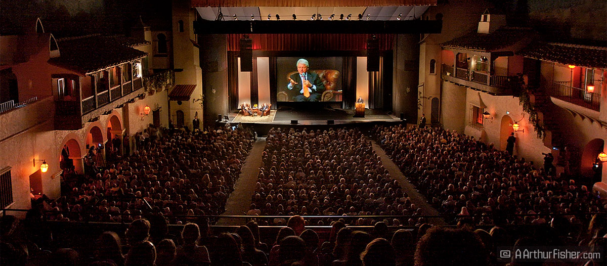 President Clinton Speaks at Santa Barbara's Arlington Theatre